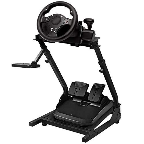 JIE JIN Racing Wheel Stand, altezza e angolo adatto per la maggior parte delle ruote da corsa G27 G29 PS4 G920 T300RS 458 T80