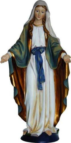 Madonna Immaculata blau/weiss, Höhe 23cm, handbemalen