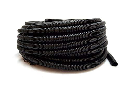 "Wire Loom Black 20' Feet 1/2"" Split Tubing Hose Cover Auto Home Marine"