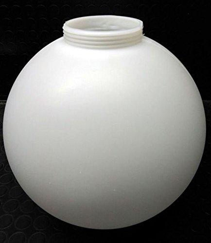 Globo iluminación polietileno/politeno blanco Diámetro 30 centimetros con rosca 10 centimetros