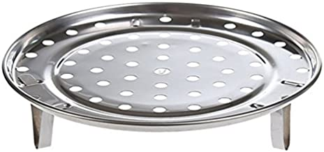 New arrival Pot Steaming Tray Stand Cookware Tool Multifunctional Home Kitchen Round Stainless Steel Steamer Rack Insert S...