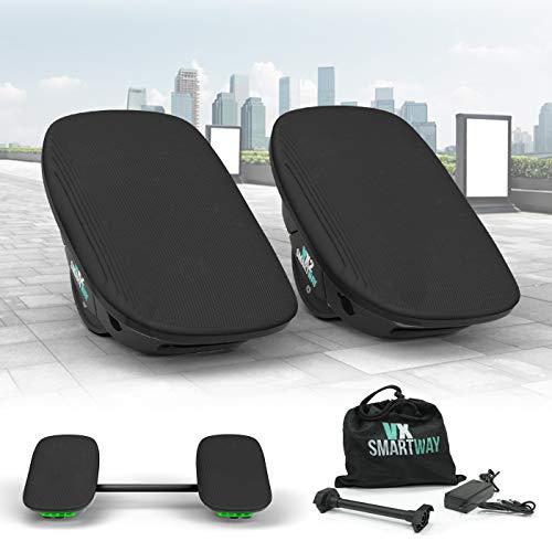 Smartway Elektro Hoverskates 500W 2in1 Hovershoes VX-2 Balance Scooter Hoverboard Rollschuhe Hoverschuhe E-Scooter (schwarz)