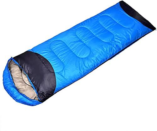 angelHJQ Saco de dormir ultraligero para mochilero, compacto y cálido, impermeable, con bolsa de compresión y malla de almacenamiento. Tamaño: (190+30)*75 cm