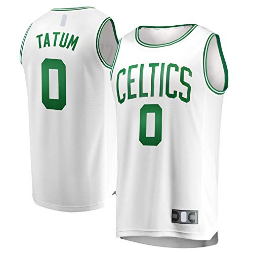 OYFFL Jayson Custom Tatum Sudadera Boston Basketball Jersey Celtics Sportswear #0 Fast Break Away Jersey Blanco - Edición Asociación-XL