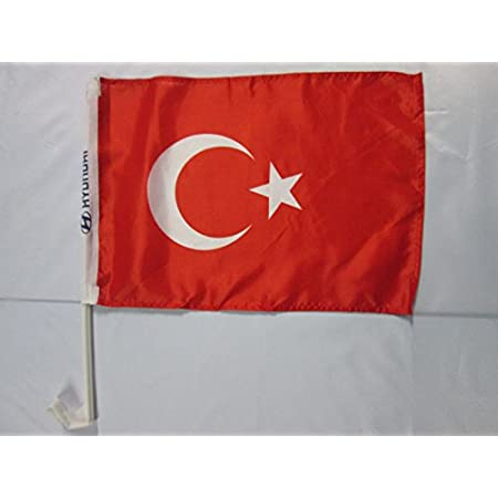 Az Flag Autofahne TÜrkei 45x30cm TÜrkische Autoflagge 30 X 45 Cm Auto Flaggen Garten