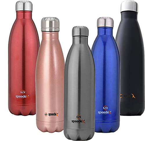Speedex Stainless Steel Thermosteel Vacuum Insulated Flask 24 Hours Hot and Cold Water Bottle(1000ml, Silver)