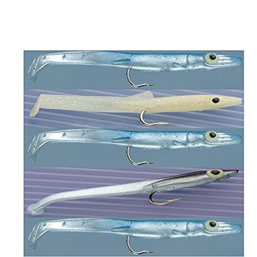 Anguilline Esche Artificiali Gomma Pesca Traina Spinning Spigola Mare Raglou Cm 12