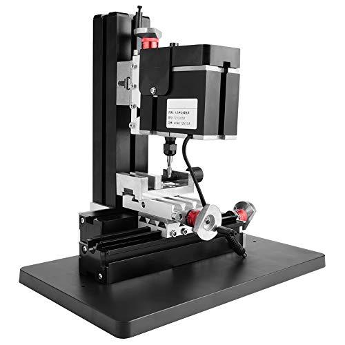 Fresadoras eléctricas de mesa de trabajo multifunción de 60W 12000RPM, Mini torno de Metal de 100-240V, fresadora en miniatura DIY