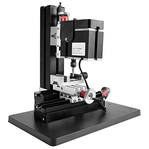 Lowest Price! Mini Milling Machine, 60W 12000RPM Metal Milling Lathe Machine DIY Miller 100-240V