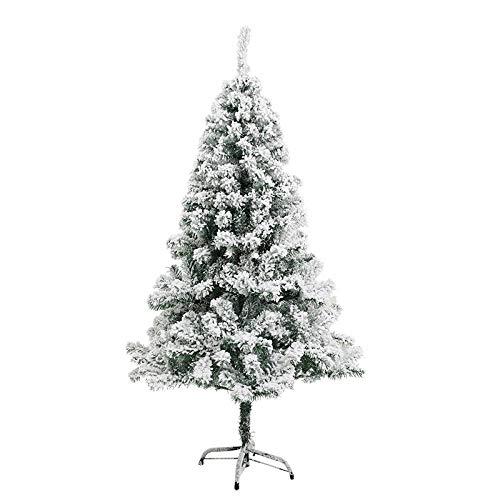 HBFJB Mini árbol de Navidad Artificial al Aire Libre del árbol de Navidad nevado de los 4ft para la Navidad/el hogar/el Partido-Verde_120cm