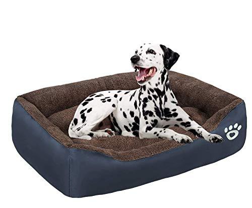 FAREYY - Camas para perros grandes lavables con cremallera, cama ortopédica para perros medianos y grandes, con parte inferior antideslizante para camas para mascotas, cojín de sofá