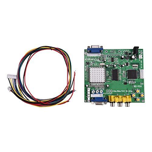 Socobeta Video Converter Arcade-Spiel CGA/EGA/YUV/RGB zu VGA Video Output Converter Adapterkarte für CRT LCD PDP Monitor