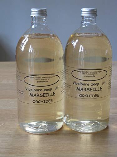 Vloeibare Marseille zeep pompje 2x 1 liter Orchidee