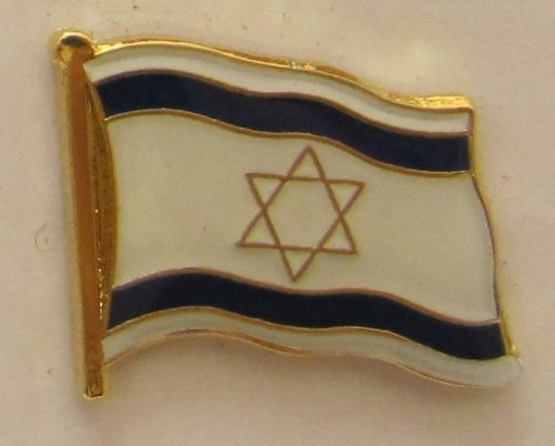 Buddel-Bini Versand Israel Pin Anstecker Flagge Fahne Nationalflagge Flaggenpin Badge Button Flaggen Clip Anstecknadel