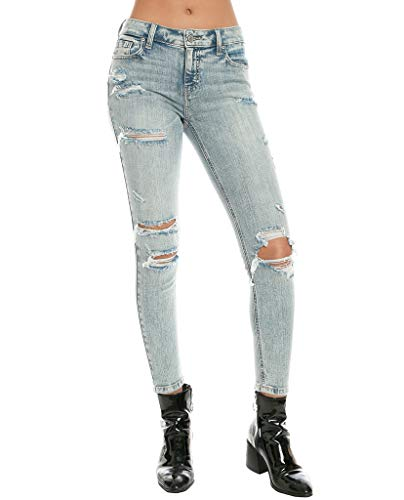 Eunina Jeans by Pistola Skinny Jeans Washed Effect Distressed (1) Blue