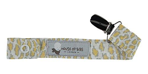 House of Bibs - Bébé Attache Sucettes - Animal Jaune Moutarde