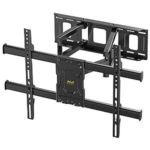 Staffa per TV con movimento girevole ed estendibile -Supporto per montaggio a parete per TV da 37-70 Pollici -Staffa ultra resistente 60kg, VESA 200x100mm – 600x400mm