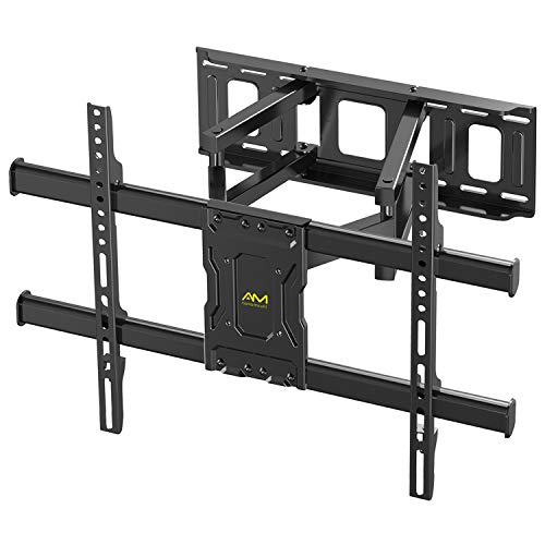 TV Wandhalterung, Schwenkbare Neigbare TV Halterung mit Doppelte Gelenkarme, Max. VESA 600x400mm für 37-70 Zoll LED LCD Flach & Curved Fernseher oder Monitor bis zu 60 kg