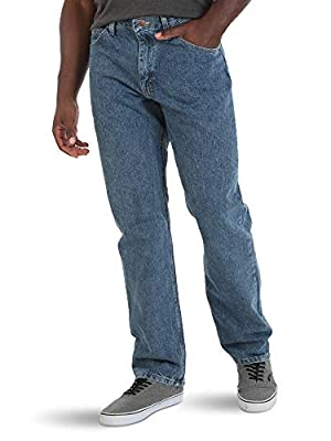 Wrangler Authentics Men's Classic 5-Pocket Relaxed Fit Cotton Jean, Vintage Stonewash, 34W x 30L