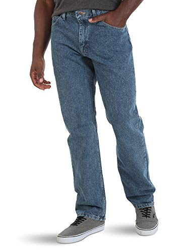 Wrangler Authentics Men's Classic 5-Pocket Relaxed Fit Cotton Jean, Vintage Stonewash, 38W x 36L