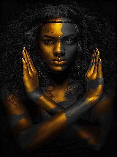 5d pintura de diamantes mosaico de diamantes de imitación mujer africana kit de bordado de diamantes cuadrado/redondo pintura de diamantes A9 50x70cm