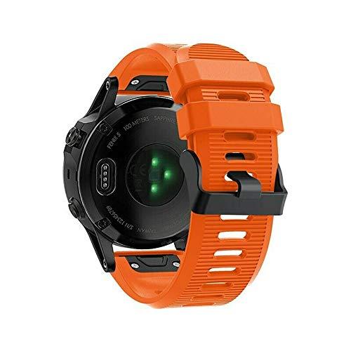 BNBUKLTD - Correa de silicona para reloj inteligente Garmin (liberación rápida), Hombre, color Naranja regular., tamaño 6X