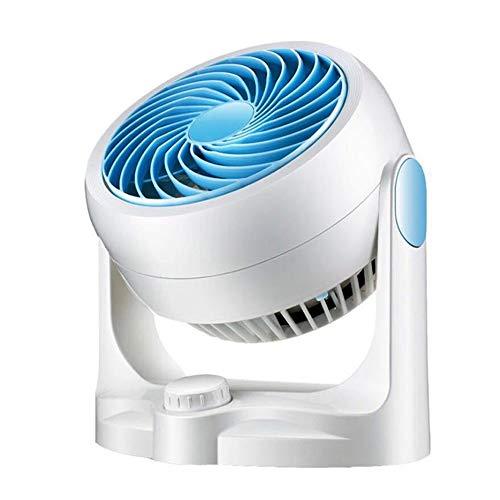OaLt-t Ventilator Mini-USB-Lüfter für wiederaufladbare Akkus, 3-stufiger, regelbarer Tischventilator mit leiser Rotation für Heim, Büro, Outdoor, Reise - Weiß Ventilator leise
