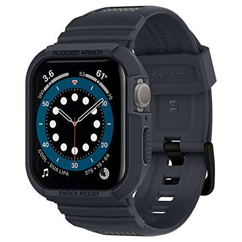 Spigen Rugged Armor Pro Designed for Apple Watch Case for 44mm Series 5 / Series 4 - Charcoal Gray