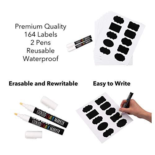 164 etiquetas pizarra PVC alta calidad acabado premium