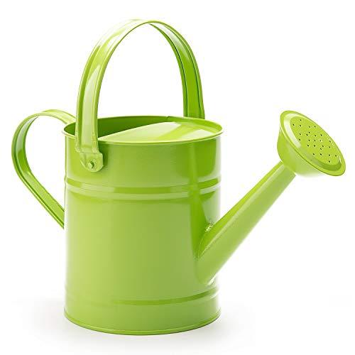 Worth 1,5 Letre d'arrosage en métal Seau, superbe pour enfant Vert Jardin Arrosoir avec revêtement par poudre antirouille