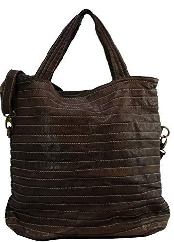 BZNA Bag Stefania Marrone Moro Italy Designer borsa da donna in pelle Borsa a tracolla in pelle Shopper Nuovo