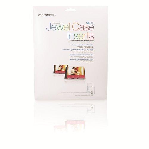 Memorex Jewel Case Inserts - 50 Pack