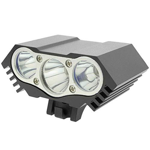 PrimeMatik - Luz LED Frontal para Cabeza y Bicicleta con batería de 8000 mAh 3000 lúmenes 3 x T6 XLamp