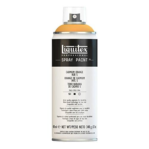 Liquitex Professional Spray Paint Acrylfarbe, Kadmium - Orange Imit. Nr. 5, 400ml Acrylspray