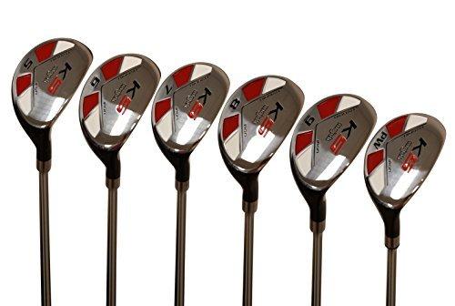 Senior Ladies Golf Clubs All Hybrid Set 55+ Years Womens Right Handed Majek Lady Full True Hybrid Complete Set which Includes: #5, 6, 7, 8, 9, PW Lady Flex New Utility A Lady Flex Club
