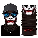 Chiefstore Super Hero Bandanas Clown Maske Halbgesicht Motorrad Bandanas Staubgesichtsmaske Angelschal