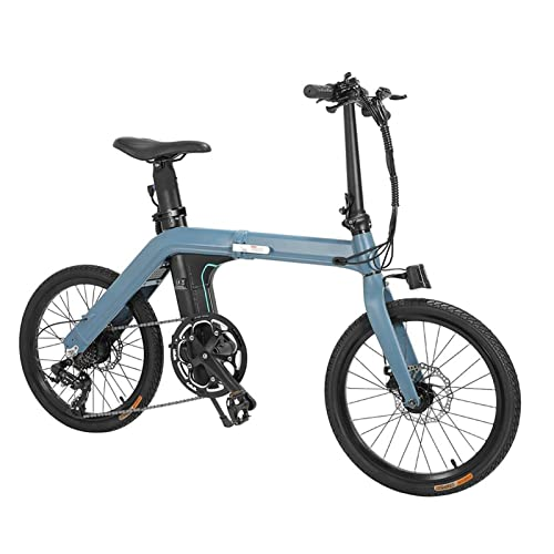 Bicicleta eléctrica azul,neumático de 20 pulgadas,bicicleta de ciclomotor eléctrica plegable,250w,motor de engranaje sin escobillas,11.6ah,100 km /h,bicicleta eléctrica de rango máximo