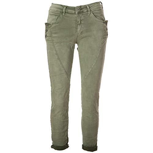Basic.de Damen Boyfriend-Hose mit 3 Knopf-Tasche Melly & CO 8171 Khaki XS