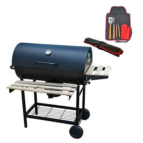 KCT Classic Barrel Outdoor BBQ Smoker With Tool Set