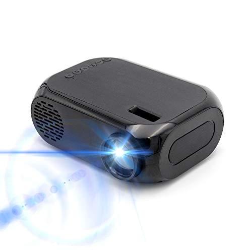 Draadloze wifi-projector, 30000 uur LED-lampen levensduur draagbare mini-LED Full HD 1080P home cinema film projector met HDMI USB AV VGA SD voor Home Cinema Xbox ONE 60 '' Max weergave zwart