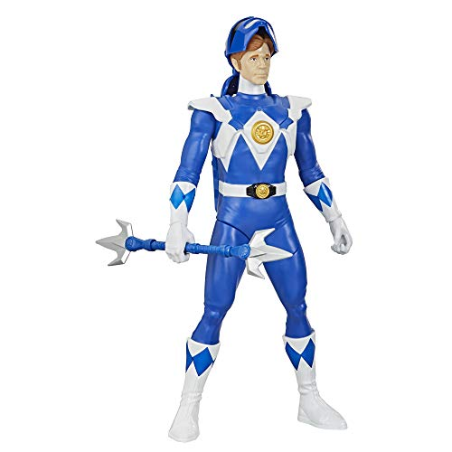 Power Rangers Mighty Morphin Blue Ranger Morphin Hero 12-inch Action Figure Toy with Accessory, Inspired by The TV Show