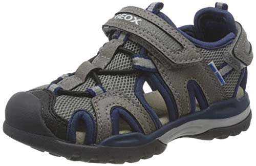 Geox J Borealis Boy A, Fisherman Sandal, Grey Navy, 29 EU
