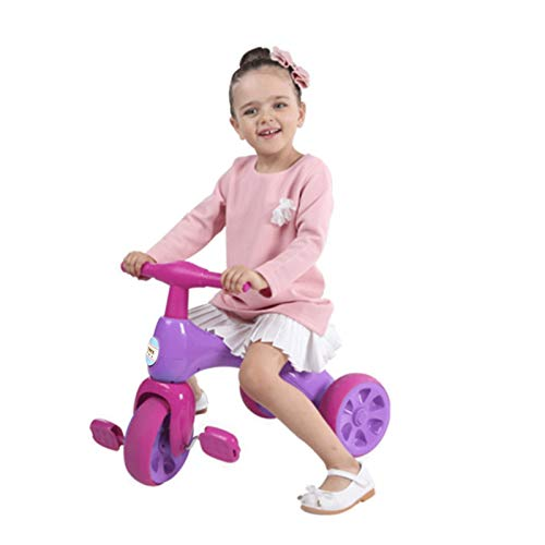 Kids Tricycles, Non-Slip Cute Smooth Handle,Easy to Install and Use , Baby Balance Bike Trikes Riding Toys for Toddler,Gift with for 2-4 Years Old Boys Girls
