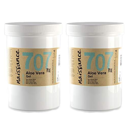 Naissance Gel d'Aloe Vera (n° 707) - 1kg (2 x 500g) - vegan, non testé sur les animaux - apaisant et rafraîchissant pour la peau