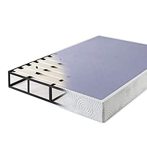 Zinus 9 Inch High Profile Metal Smart Box Spring/Mattress Foundation/Wood Slat Support/Easy Assembly, King