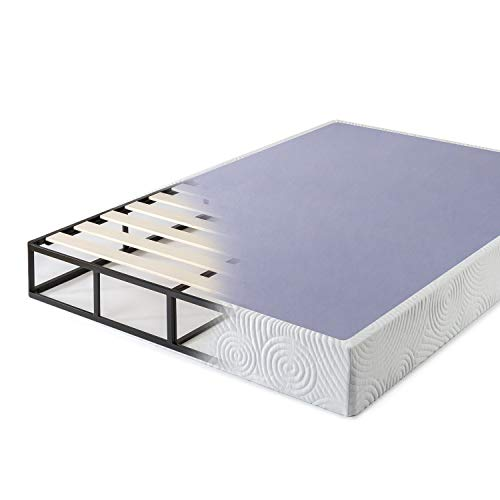 Zinus Walter 9 Inch High Profile Metal Smart Box Spring / Mattress Foundation / Wood Slat Support / Easy Assembly, Queen