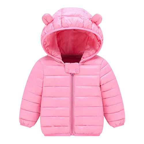 Manadlian Manteau Hiver pour Bébé Garçon Filles Veste à Capuche Blouson Epaisse Chaud Hoodies Zipper Oreilles de Lapin Forme Manteaux Enfant 0-3 Ans