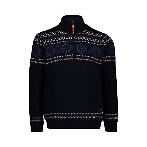 CMP Herren Knitted WP Pullover, Black Blue, 52