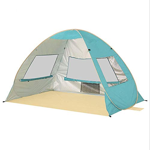 LHQ-HQ Family Tent Beach Tent Small Portable 2-3 PersonTent For Camping Fishing Hiking Picnicing For Outdoor Party Events Outdoor Tent Automatic Camping Tent (Color : Blue)