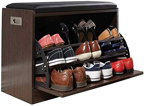 ZouYongKang Zapato y banco de zapatos y gabinete de zapatos y botines Organización de cojín desmontable con compartimento de almacenamiento oculto, con cojín suave de PU, entrada para el hogar Taburet